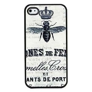 TL la abeja de estilo retro patrš®n duro caso para iPhone 4 y 4S