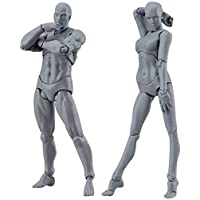 Action Figure Model, Mannequin Body Kun Doll Male & Female PVC Action Figure Model with Accessories Kit for Sketching, Painting, Drawing, Artist, Kids, Cartoon Figures Action