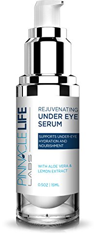 Pinnacle Life Labs- Rejuvenating Under Eye Serum- Helps to Support Under Eye Skin Health- With Aloe Vera and Lemon Extract