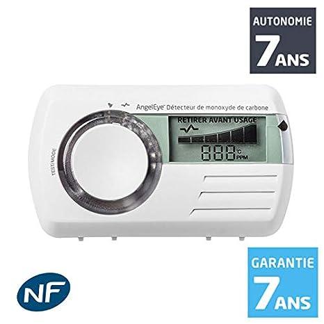 AngelEye - Detector de monóxido de carbono (CO) Memory CO-AE-9D-FR con autonomía de 7 años: Amazon.es: Bricolaje y herramientas