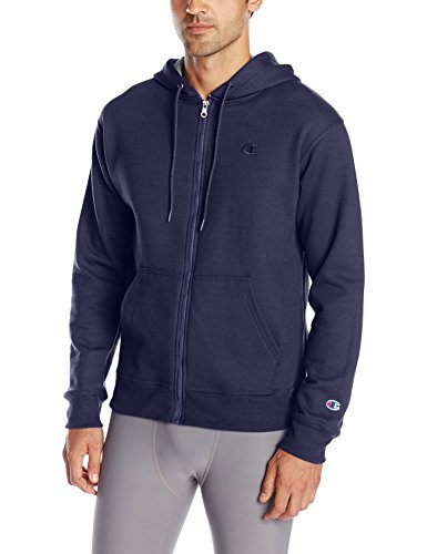 Champion Men's Powerblend Full-Zip Hoodie, Navy, Medium