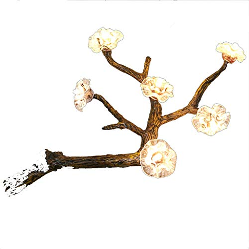(SGKJJ Natural Wind Wall Lamp Modern Pastoral Classical Personality Plum Bedroom Wall Lamp American West Theme Restaurant Cafe Box Exhibition Hall Leisure Area Engineering Club 6 Wall Lamp -357Wall Lam)