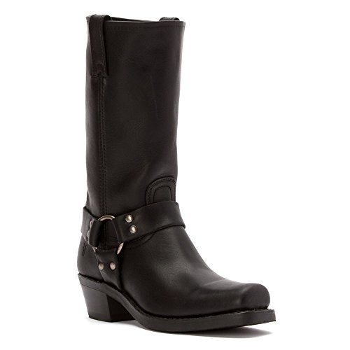 FRYE Women's Harness 12R Boot Square Toe Black 8 M