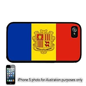 Andorra Flag Apple iPhone 5 Hard Back Case Cover Skin Black by runtopwell