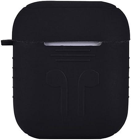 Protector de caja AirPods, cubierta de silicona de protección ...