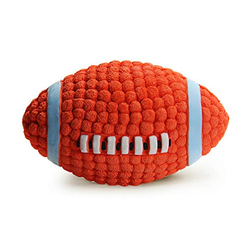 LifeCom Latex Dog Play-Chew-Fetch Ball/Squeaky Dog Play Rugby/Football for Pet Toy/Floating Ball for Toy Interactive Fetch & Play (Large)