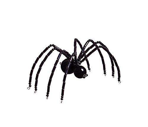 Black Glass Beaded Spider