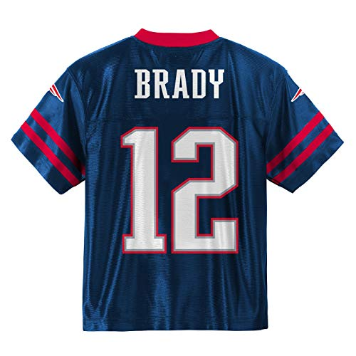 e2991b3d4 Outerstuff Tom Brady New England Patriots #12 Navy Blue Toddler Home Player  Jersey (2T)