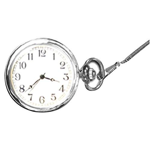 Faced Quartz Watch (Quartz open faced silver pocket watch, hw4001)