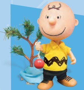 Peanuts Charlie Brown Christmas Charlie Brown Deluxe Action Figure with Pathetic Tree 2008 Charlie Brown Pathetic Christmas Tree