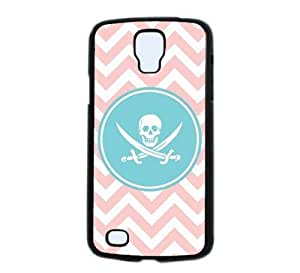 Jolly Roger Pirate Baby Pink Zig Zag Circle Hipster Samsung Galaxy S4 Active S4 Active - i9295 Case - Fits Samsung Galaxy S4 Active S4 Active - i9295