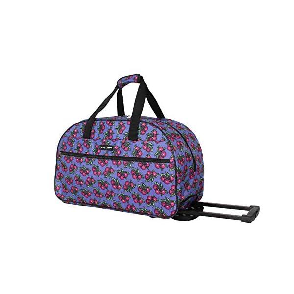 Betsey Johnson Luggage Designer Pattern Suitcase Wheeled Duffel Carry On Bag