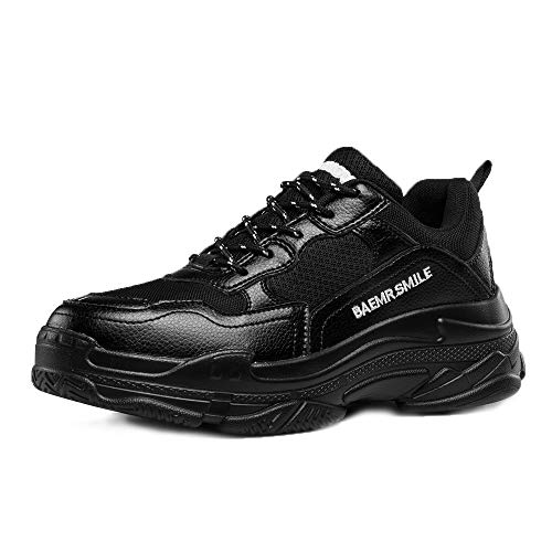 Walking Sneakers Sport Casual Fashion Breathable Shoes black Lightweight Running Men's Shoes Style4 Fqw78C8