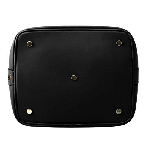 Tuscany Leather Vittoria Borsa secchiello da donna in pelle Ruga - TL141531 (Nero) Nero