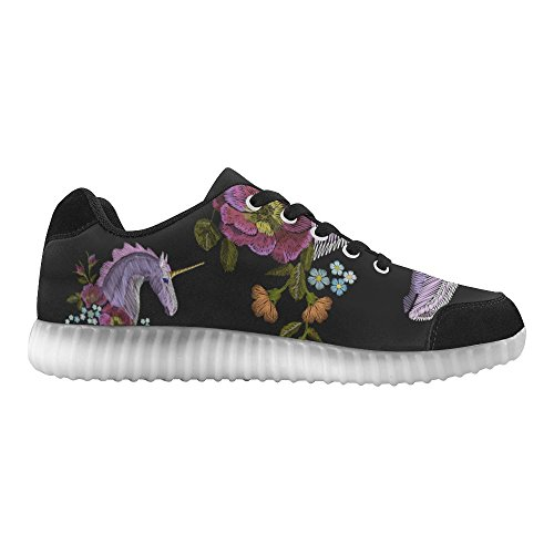 D-Story Winged Eye Fashion Sneakers Light Up Womens Shoes Multicoloured52 ZBh5aXRob