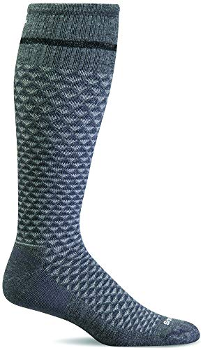 - Sockwell Men's Micro Mix Firm Compression Socks (Charcoal, Large/XLarge)