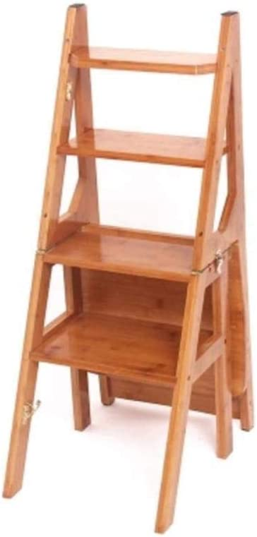 XITER-Taburete Escalera Escalera Taburete Escalera de bambú Escalera en espiga Escalera plegable Escalera Taburete de cuatro pisos Ascender Color primario Silla Escalera Nogal blanco Color Peso del co: Amazon.es: Hogar