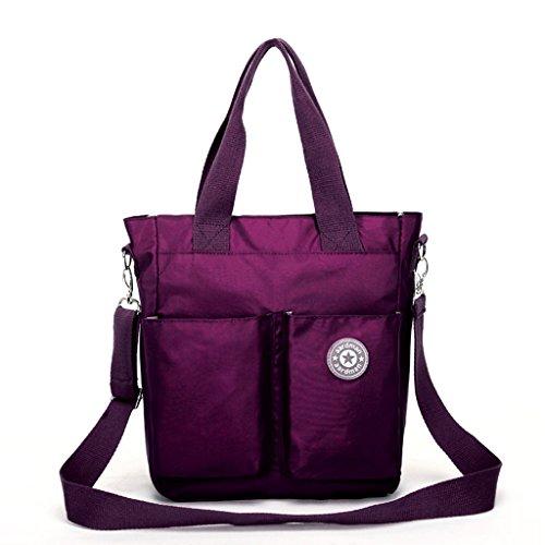 Bolso de la momia Bolso de la pequeña bolsa de mensajero Multifuncional paquete de la madre Paquete de la madre Mujeres embarazadas Paquete Paquete ( Color : Black Texture ) Deep Grapes Purple