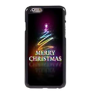 QJM Colorful Merry Christmas Design Aluminum Hard Case for iPhone 6