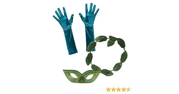 de Mujer Damas Poison Ivy Disfraz Juego 1 (Hoja Diadema, Guantes ...