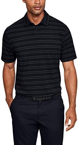 Mens Charged Cotton Scramble Stripe Golf Polo, Black (002)/Black, XX-Large