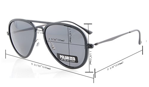 Eyekepper Flash Green Mirror Polarized Sunglasses Titanium Temple TR-90 Frame by Eyekepper (Image #5)