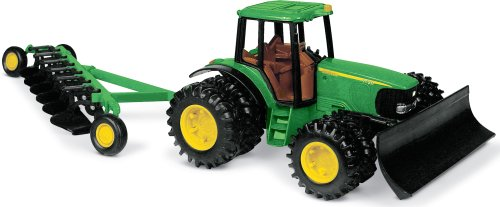 (John Deere Tractor with Blade and Plow)