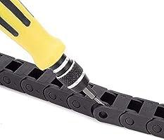 Ochoos 7 mm x 7 mm R15 Cable de plástico arrastre cadena ...