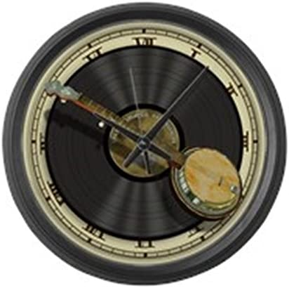 CafePress Banjo Music Large 17 Round Wall Clock, Unique Decorative Clock