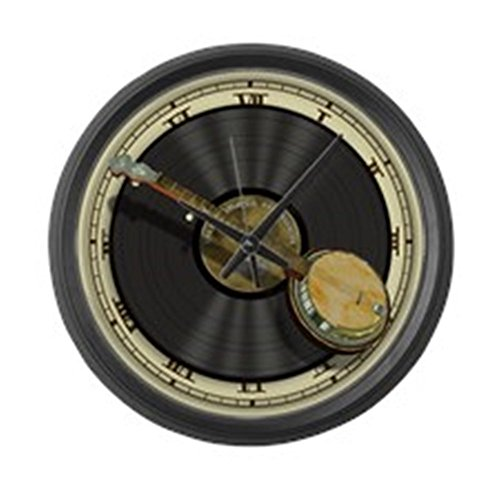 CafePress Banjo Music Large 17 Round Wall Clock, Unique Decorative Clock