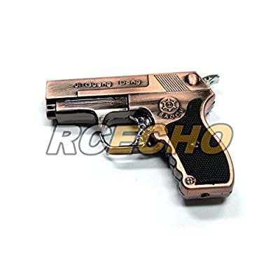 6 pcs x S&H BS-732 Baoch Gun Piezo Jet Flame Gas Lighter (Bronze) L013C
