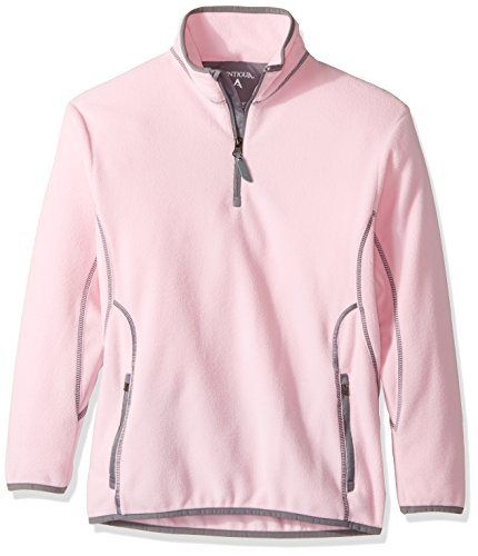 Antigua Youth Ice Pullover, Mid Pink/Steel, Large
