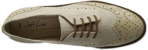 Softline 23763, Zapatos de Vestir para Mujer Marrón (Dune Comb. 414)