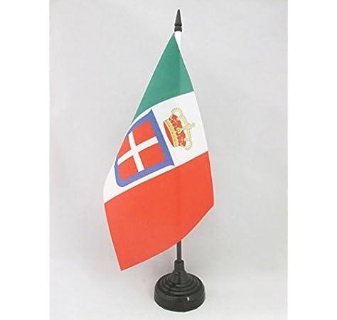 AZ FLAG Bandera de Mesa del Reino DE Italia Corona 21x14cm - BANDERINA de DESPACHO Italiana Real 14 x 21 cm: Amazon.es: Hogar