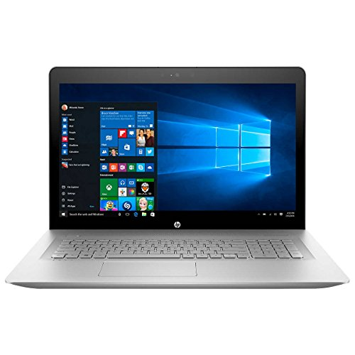 HP Envy 17.3-Inch Full HD IPS Touchscreen Laptop, 7th Intel Core i7-8500U, 16GB DDR4 RAM, 1TB 7200RPM HDD, NVIDIA GeForce MX150, DVD, HDMI, Bluetooth, Backlit Keyboard, Windows 10-Silver (Renewed)