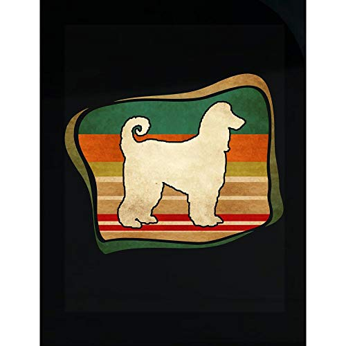 Amazing Fan Store Cute Afghan Hound Retro Vintage Gift for Dog Mother Dad - Transparent Sticker