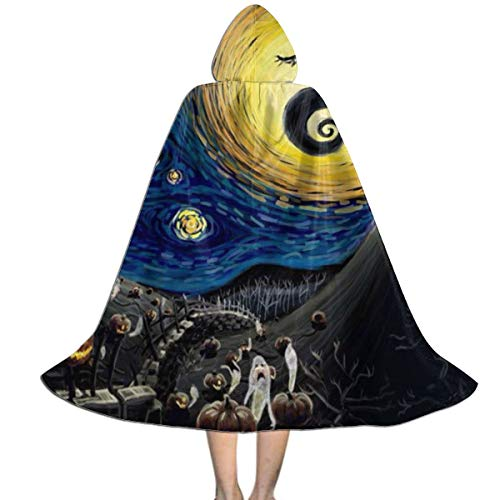Starry Night Witch Costumes - Kids Witch Cloak for Halloween Nightmare