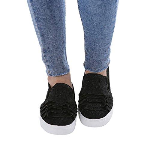 Schuhe Schuhe Kopf Schuhe friendGG Flache Wildleder Schuhe Freizeitschuhe Spitze Schwarz Damenschuhe Schuhe Große Schuhe Einzelne Schuhe Schuhe Runde Weibliche Schuhe Elegante xOqxZw