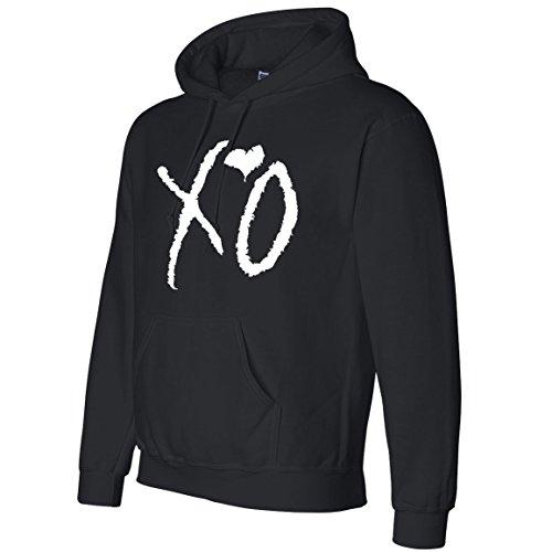 Tee Plaza - XO The weeknd Hoodie WHITE print sweater- 1-side Black S