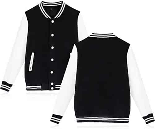 bb1338358a1 Giuoke Men Women Fashion Stand Collar Long Sleeve Button Pocket Cotton  Baseball Jacket