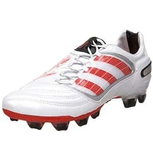 adidas Men's PREDATOR X FG Soccer Shoe,Predator Running White Metallic/Predator Red/Black (DB),7 D