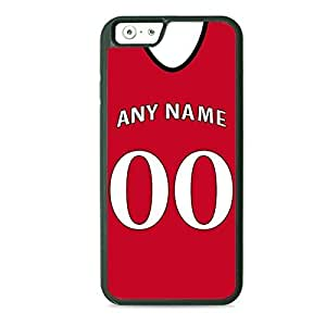 Case Fun Case Fun Personalised Liverpool Football Shirt, Any Name, Any Number TPU Rubber Back Case Cover for Apple iPhone 6 4.7 inch