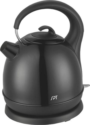SPT Stainless Cordless Electric Kettle, Black (Electric Kettle Brown compare prices)