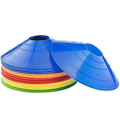 50-Pack Kevenz 2 inch High Soccer disc Cones,Multi color Cone for Agility Training, Soccer, Football, Kids, Field Marker