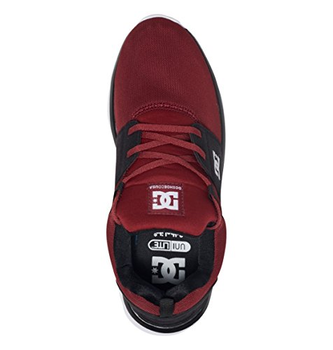 DC Shoes Heathrow, Sneakers basses homme, Rouge - Chili Pepper, 40.5 EU