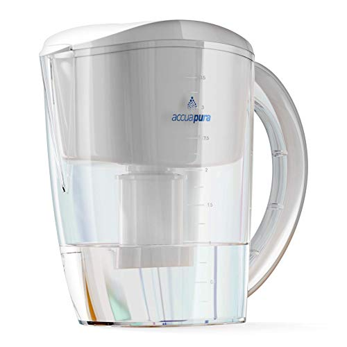 AccuaPura PREMIUM Quality Alkaline Water Pitcher with Filter, 3.5L. Ionizer with Water Filtration...