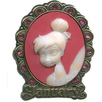 Disney Parks Tinkerbell ''January'' Cameo Birthstone Pin - Disney Parks Exclusive & Limited Availability