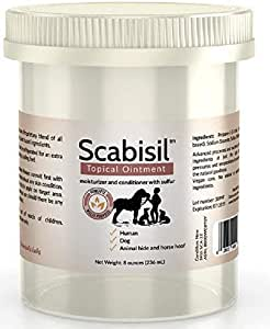 Scabisil - 10% Sulfur Ointment 8 oz Jumbo Tub - Acne, Itch Mite, Insect Bite, Body Acne, Face Acne, Fungus, Tinea Versicolor, Dermatitis, Itch Mites, Skin Mites, Multipurpose.10% Sulfur Ointment.