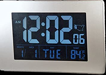 Etonnant Sonnet Atomic Desk/Bedroom Alarm Clock Black 1.75u0026quot; Display With White  LCD Numbers