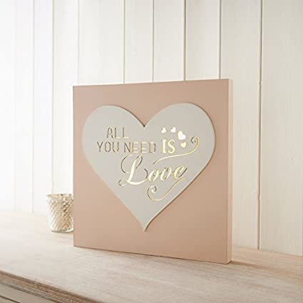 led light box sign decorative wall quote plaque all you need is